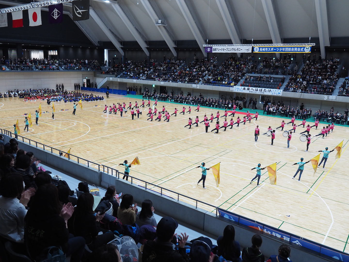Takasaki Arena Opening Ceremony<br />Performed by<br />The Takasaki Technical Leaders Marching Band 3
