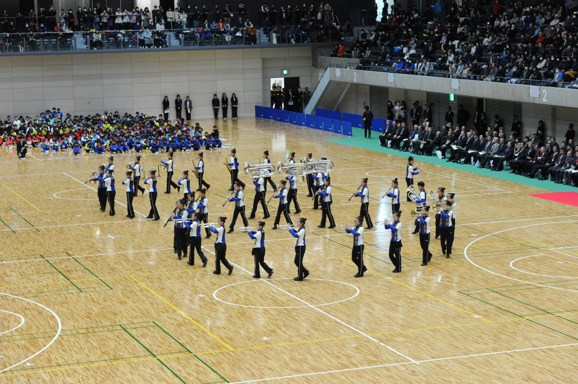 Takasaki Arena Opening Ceremony<br />Performed by<br />The Tsukasawa Junior High School Marching Band 1