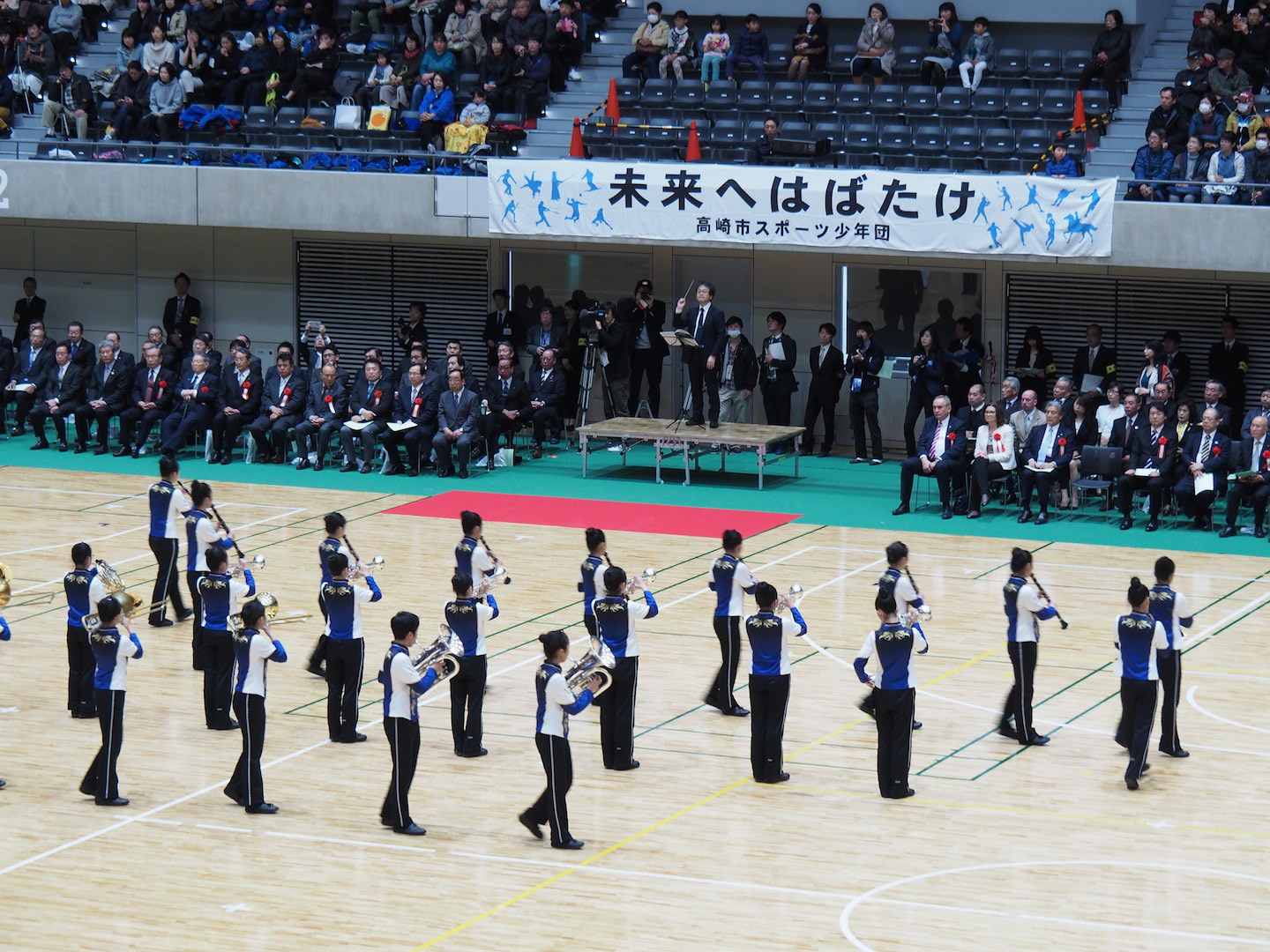 Takasaki Arena Opening Ceremony<br />Performed by<br />The Tsukasawa Junior High School Marching Band 3